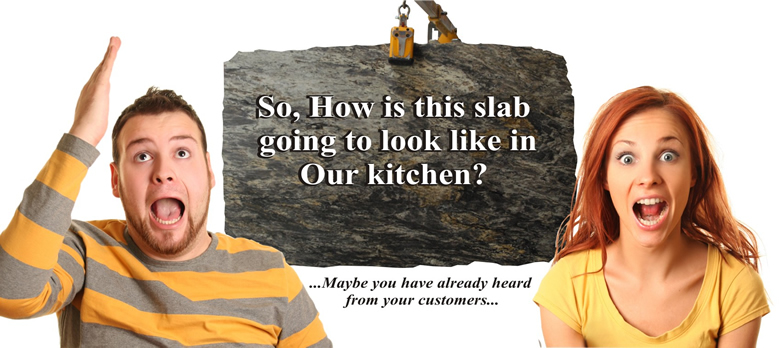 Help your customers to choose the right granite color!